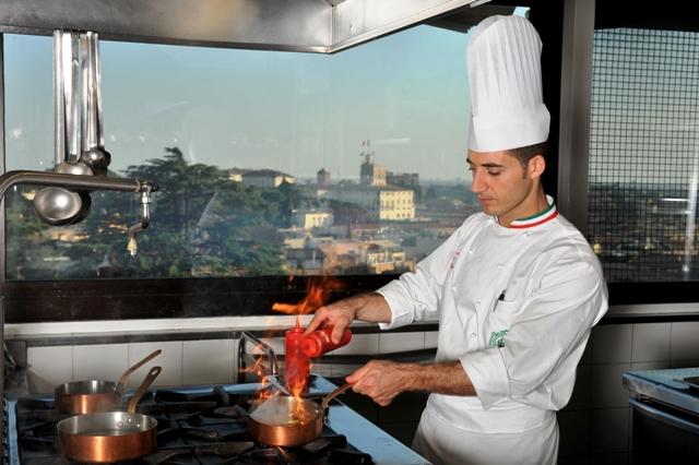 sempre a Roma, ma nella cucina più bella con una vista mozzafiato