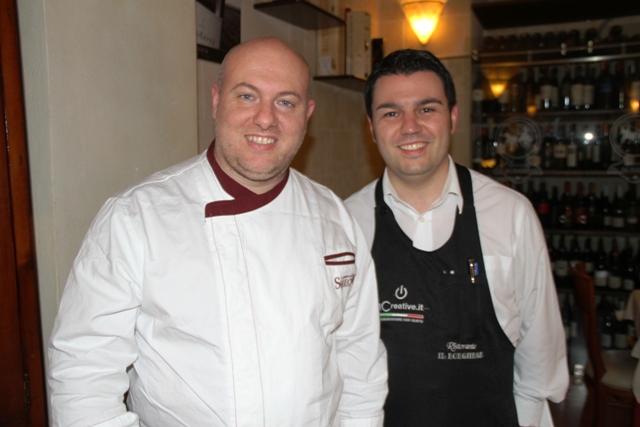 Carmine Daddiego, lo chef, e Giuseppe Casarola in sala