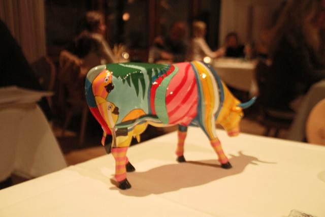 la mucca sul tavolo